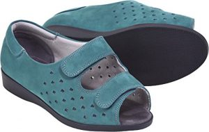 Cosyfeet Connie Teal Extra Roomy Ladies Sandal