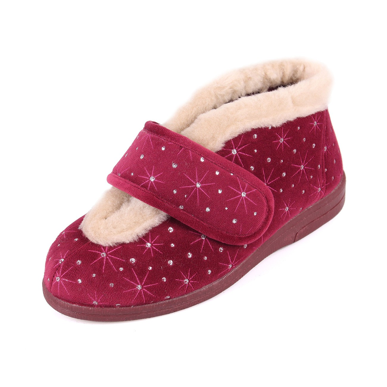 Sandpiper Val Wine Starburst Ladies Slipper
