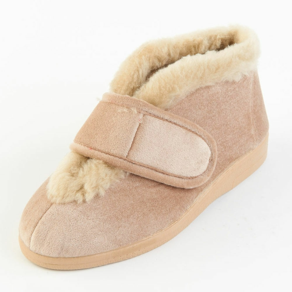 Val Bootee Slipper and ladie's wider fitting footwear