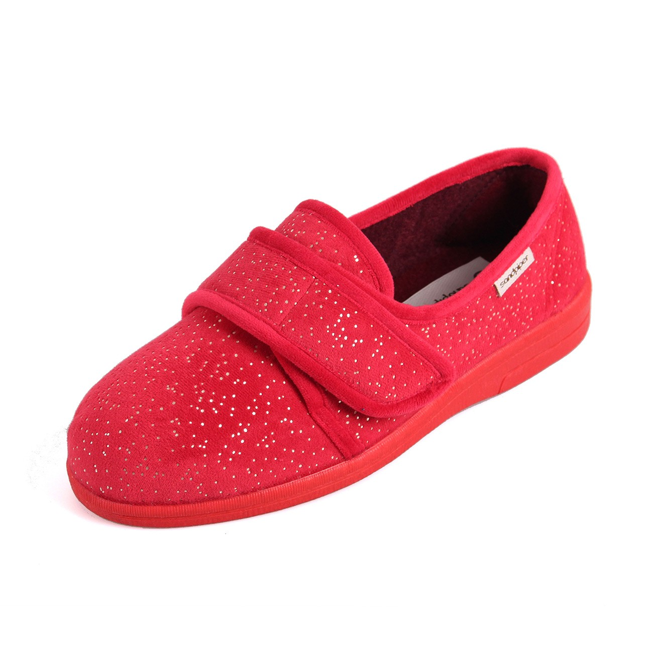 Sandpiper Sophie Cherry Sparkle Ladies Slipper and ladies wider fit slippers