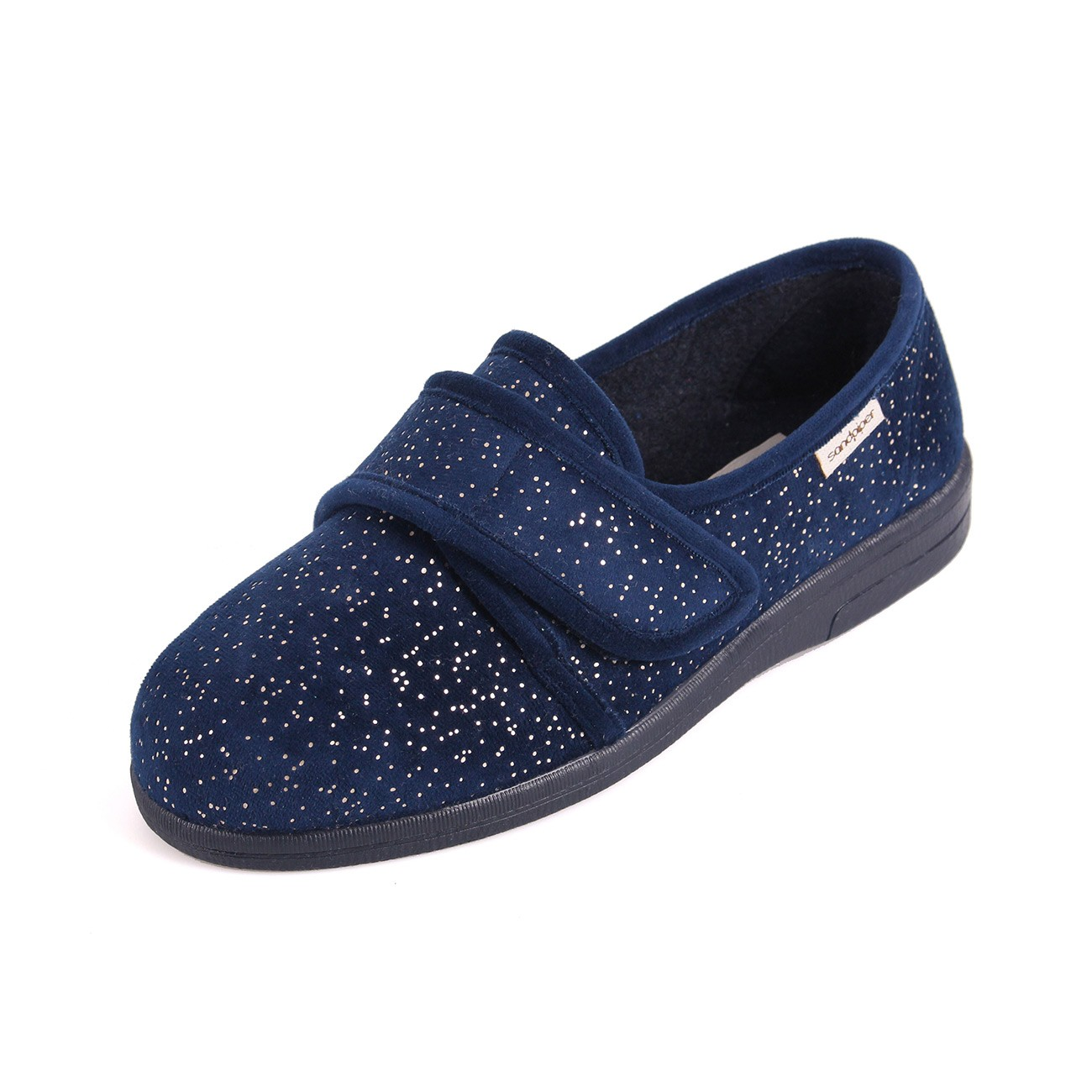Sandpiper Sophie Navy Sparkle Ladies Slipper