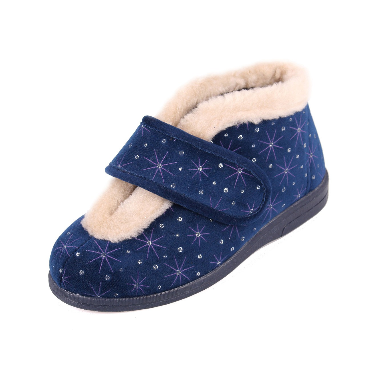 Sandpiper Val Navy Starburst Ladies Slipper