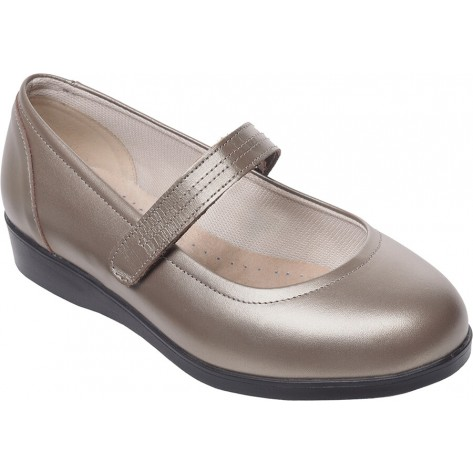 Cosyfeet Daisy Mae Extra Roomy Shoe Vintage Gold