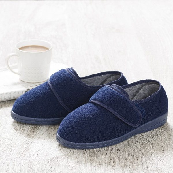 Ritchie Roomy Slipper and men's wider fitting slippers.
