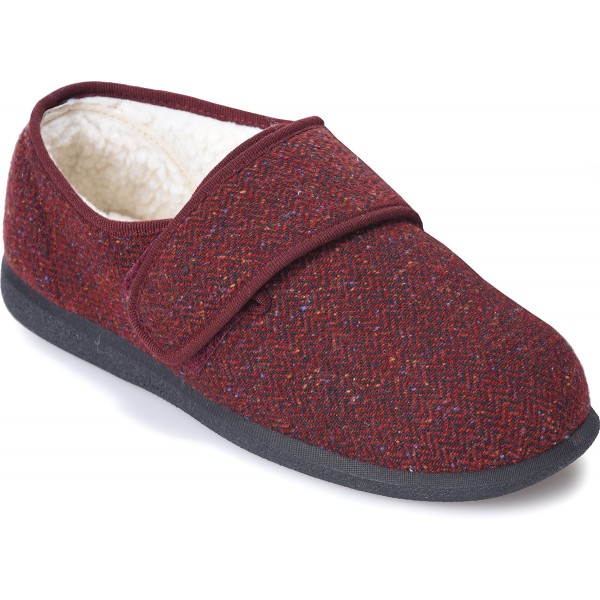 Cosyfeet Rudolph Men's Extra Roomy Slipper and men's wider fitting footwear