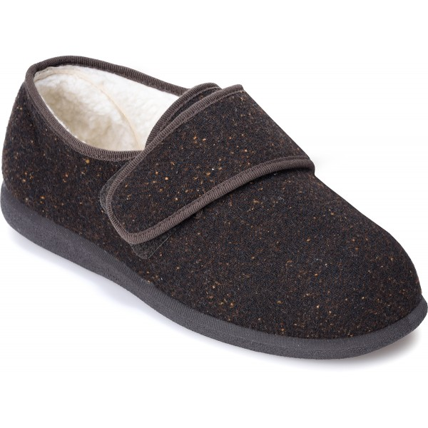 Cosyfeet Rudolph Extra Roomy Men's Slipper and men's wider fitting footwear