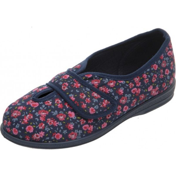 Sarah Extra Roomy Ladies Slipper and Ladies wider fitting slippers, shoes and sandals.