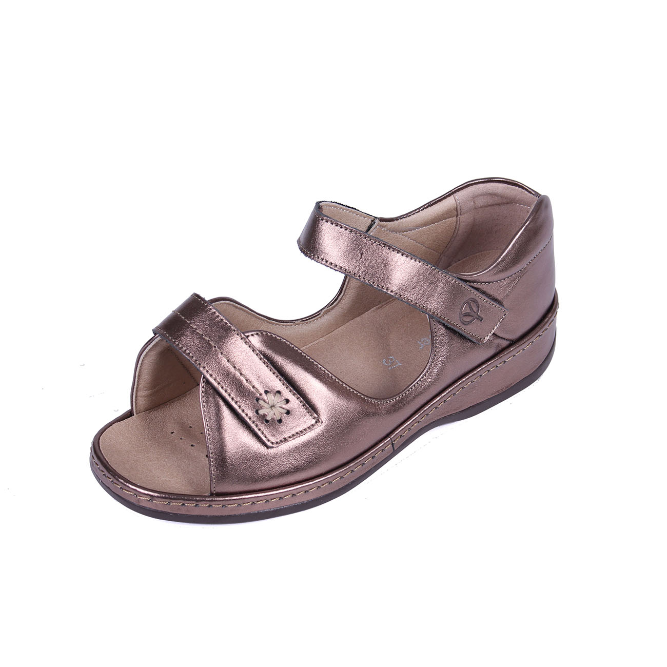 b2674b141 Sandpiper Coral Sandal adjustable and roomy for swollen feet