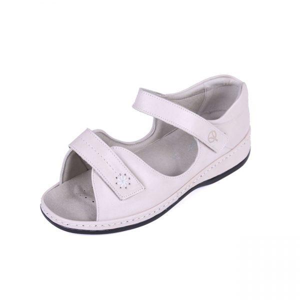 45b8a08ce783 Sandpiper Coral Ivory Ladies Sandal